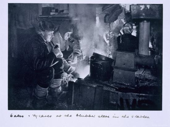 herbert-ponting-oates-and-meares-at-the-blubber-stove-in-the-stables-from-scott-s-last-expedition