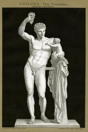 hermes-and-the-infant-dionysos-attributed-to-praxiteles-c-1895-colour-chromolithograph
