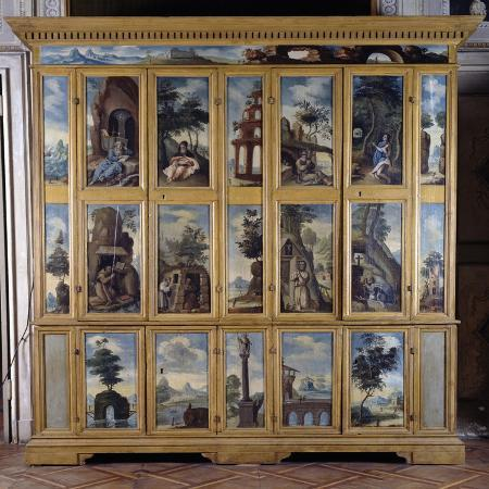 hermits-wardrobe-1623-painted-with-images-of-hermits-in-prayer-italy
