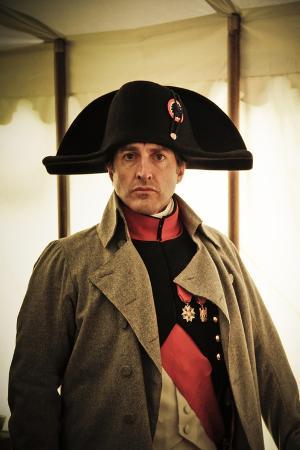 historical-reenactment-napoleon-bonaparte-in-his-field-tent-at-waterloo