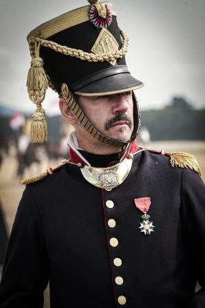 historical-reenactment-officer-of-napoleon-s-army-in-military-camp