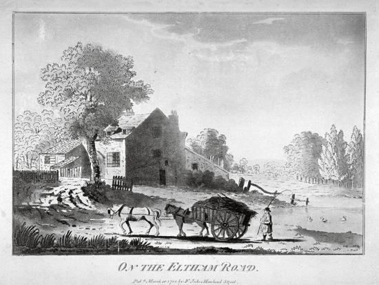 horse-and-cart-on-the-eltham-road-in-woolwich-kent-1788
