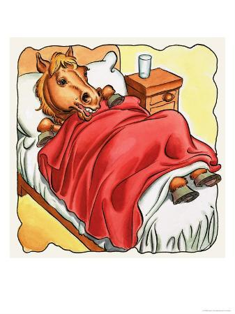 horse-in-bed
