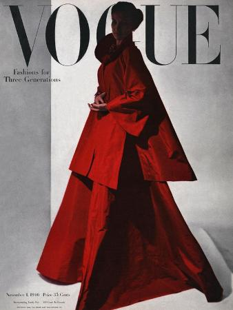 horst-p-horst-vogue-cover-november-1946-red-gown