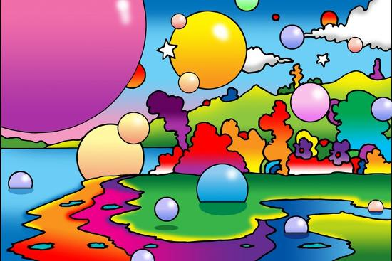 howie-green-bubbles-landscape