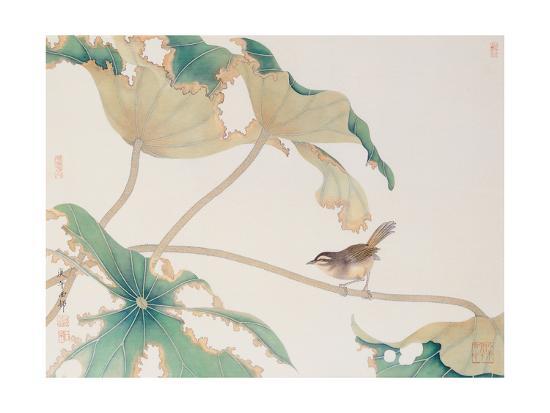 hsi-tsun-chang-bird-on-lotus-leave