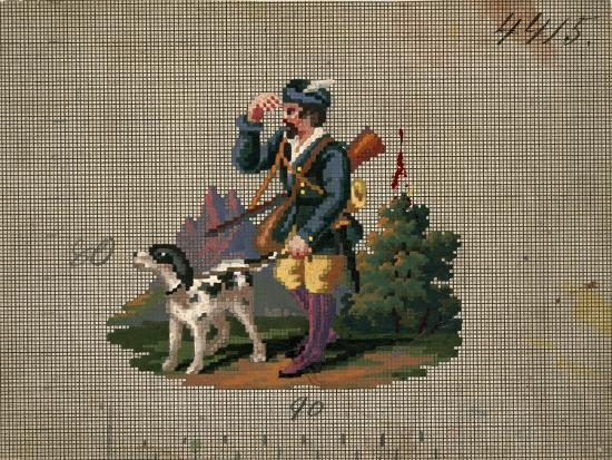 hunter-with-dog-embroidery-design