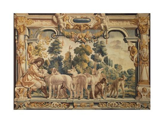 hunter-with-his-pack-of-hounds-tapestry-woven-in-brussels