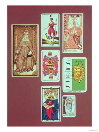 II The High Priestess, Seven Tarot Cards From Different