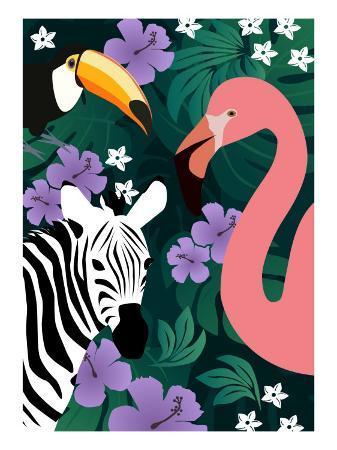 ikuko-kowada-zebra-and-birds