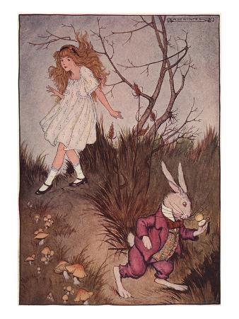 illustration-of-alice-and-the-white-rabbit-by-milo-winter