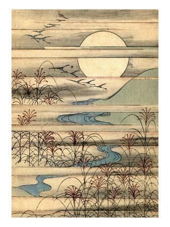 illustration-of-full-moon-over-a-river-landscape