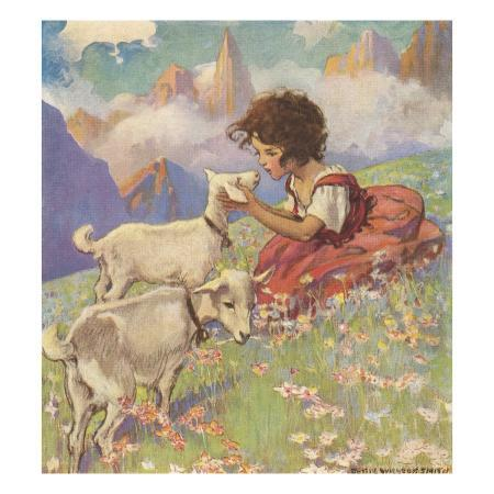 illustration-of-heidi-and-her-goats-by-jessie-willcox-smith