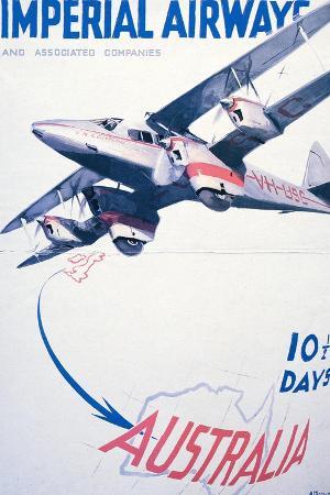 imperial-airways-to-australia-poster