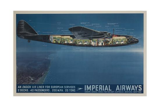 imperial-airways-travel-poster-ensign-air-liner-cutaway