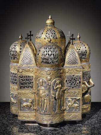 incense-burners-and-reliquary-in-shape-of-domed-building-filigreed