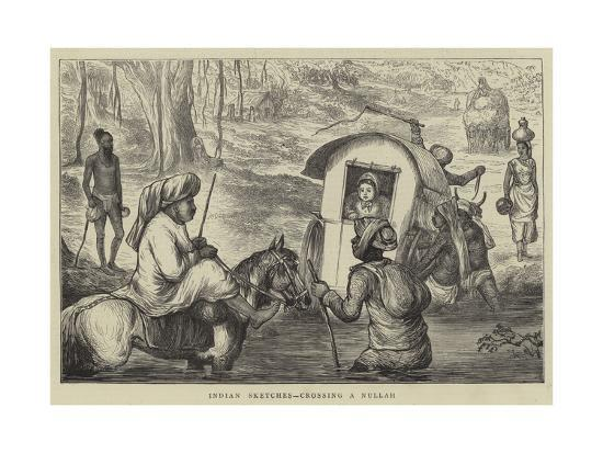 indian-sketches-crossing-a-nullah