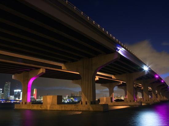 industrial-bridge-at-night-in-miami-florida