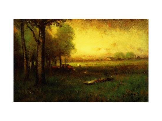 inness-sr-george-cows-grazing-at-sunset