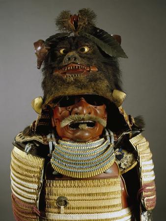 iroiro-kebiki-odoshi-nimai-do-gusoku-samurai-armor-with-helmet-from-previous-era-edo-period