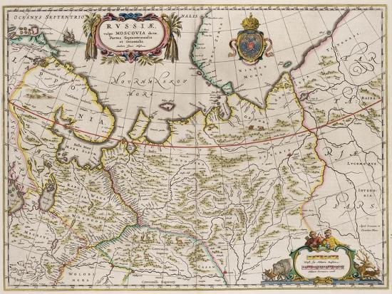 isaac-abrahamsz-massa-map-of-russia-from-partes-septentrionalis-et-orientali-1630s