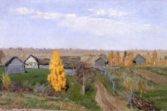 isaak-ilyich-levitan-golden-autumn-slobodka-1889