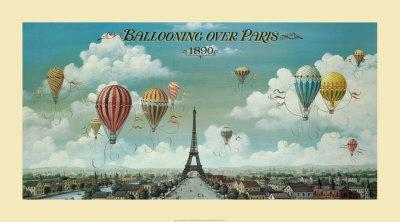 Ballooning Over Paris Art Print by Isiah and Benjamin Lane at Art.com