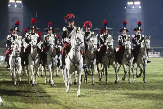 italy-milan-civic-arena-carousel-of-police-on-horseback