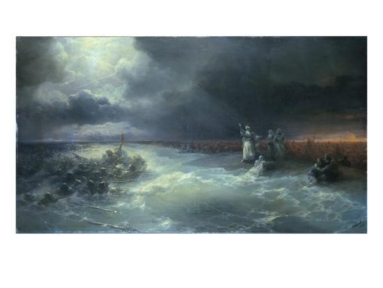 ivan-aivazovsky-and-moses-stretched-forth-his-hand-over-the-sea