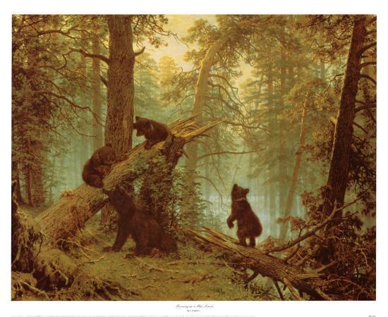 ivan-ivanovitch-shishkin-morning-in-a-pine-forest