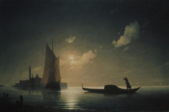 ivan-konstantinovich-aivazovsky-a-gondolier-in-venice-at-night-1843
