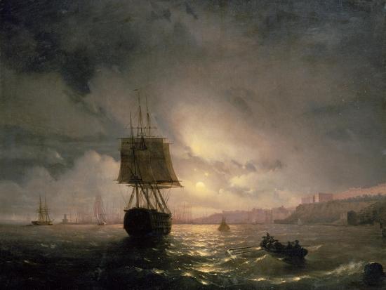 ivan-konstantinovich-aivazovsky-harbour-at-odessa-on-the-black-sea-1852