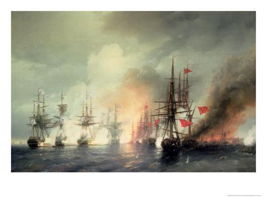ivan-konstantinovich-aivazovsky-russian-turkish-sea-battle-of-sinop-on-18th-november-1853-1853