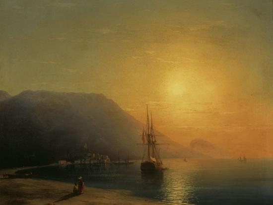 ivan-konstantinovich-aivazovsky-sunset-off-ayu-dag-in-the-crimea-1861