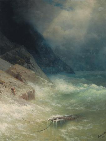 ivan-konstantinovich-aivazovsky-the-survivor-1892