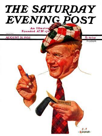 j-f-kernan-argyle-golfer-saturday-evening-post-cover-august-31-1935