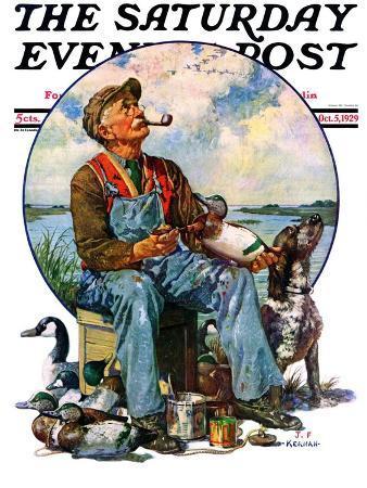 j-f-kernan-decoys-saturday-evening-post-cover-october-5-1929