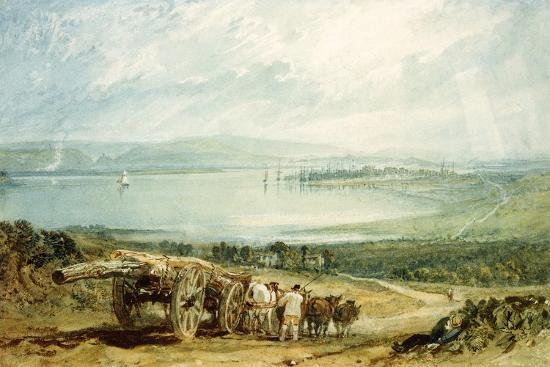j-m-w-turner-poole-dorset-with-corfe-castle-in-the-distance