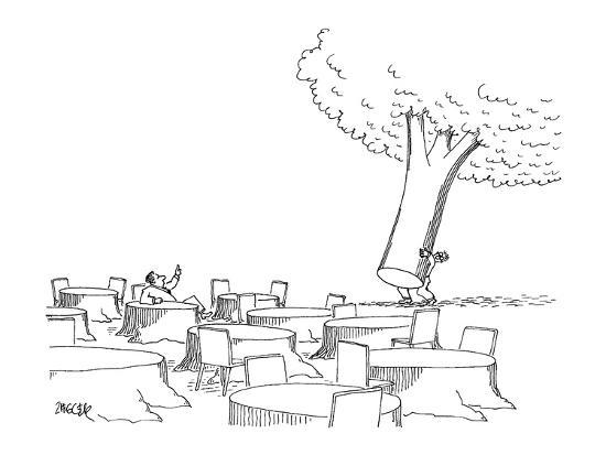 jack-ziegler-man-sitting-at-tree-stump-table-motions-to-a-waiter-to-bring-over-the-re-new-yorker-cartoon