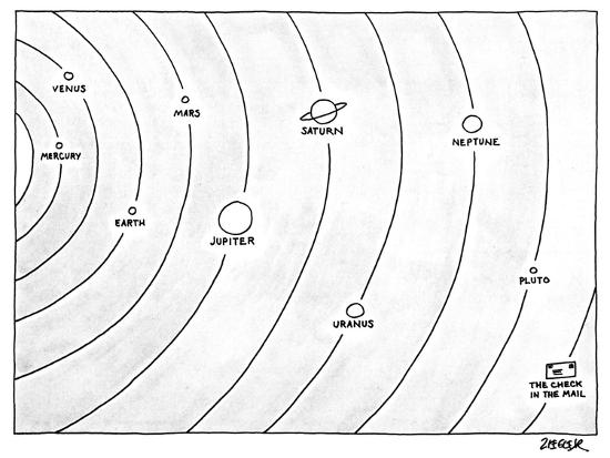 Picure of the solar system in which various planets appear