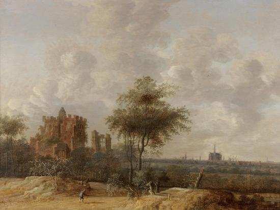 jacob-van-der-croos-landscape-with-the-ruined-castle-of-brederode-and-a-distant-view-of-haarlem-1655
