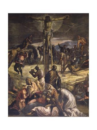 an analysis of the painting the crucifixion of christ by tintoretto Crucifixion 1565 oil on canvas, 536 x 1224 cm scuola grande di san rocco, venice: tintoretto's crucifixion in the sala dell'albergo presents a panorama of golgotha populated by a crowd of soldiers, executioners, horsemen, and apostles.