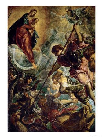 jacopo-robusti-tintoretto-the-archangel-michael-fights-satan-revelation-12-1-9