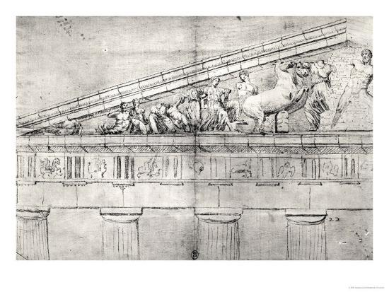 jacques-carrey-study-of-a-pediment-from-the-parthenon