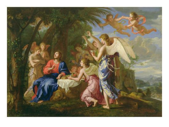 jacques-stella-christ-served-by-the-angels-c-1650