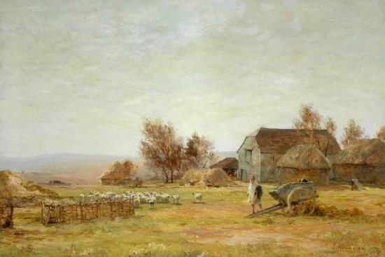 james-aumonier-a-sheep-farm-on-the-south-downs-1906