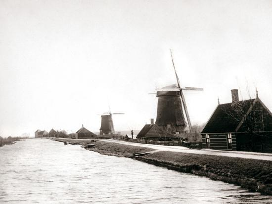 james-batkin-windmills-laandam-netherlands-1898