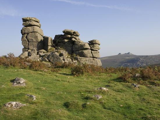 james-emmerson-a-rock-outcrop-on-hound-tor-with-haytor-rocks-on-the-skyline-dartmoor-national-park-devon-englan