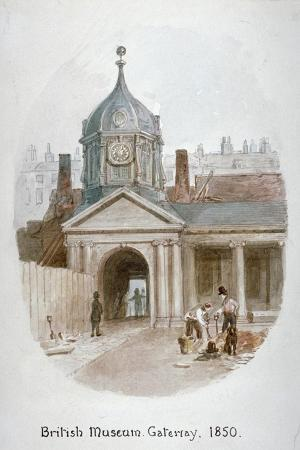 james-findlay-gateway-to-the-old-british-museum-montague-hous-bloomsbury-london-1850