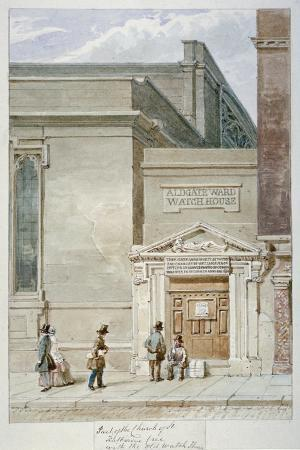 james-findlay-partial-view-of-st-katherine-cree-and-the-aldgate-watch-house-city-of-london-1830